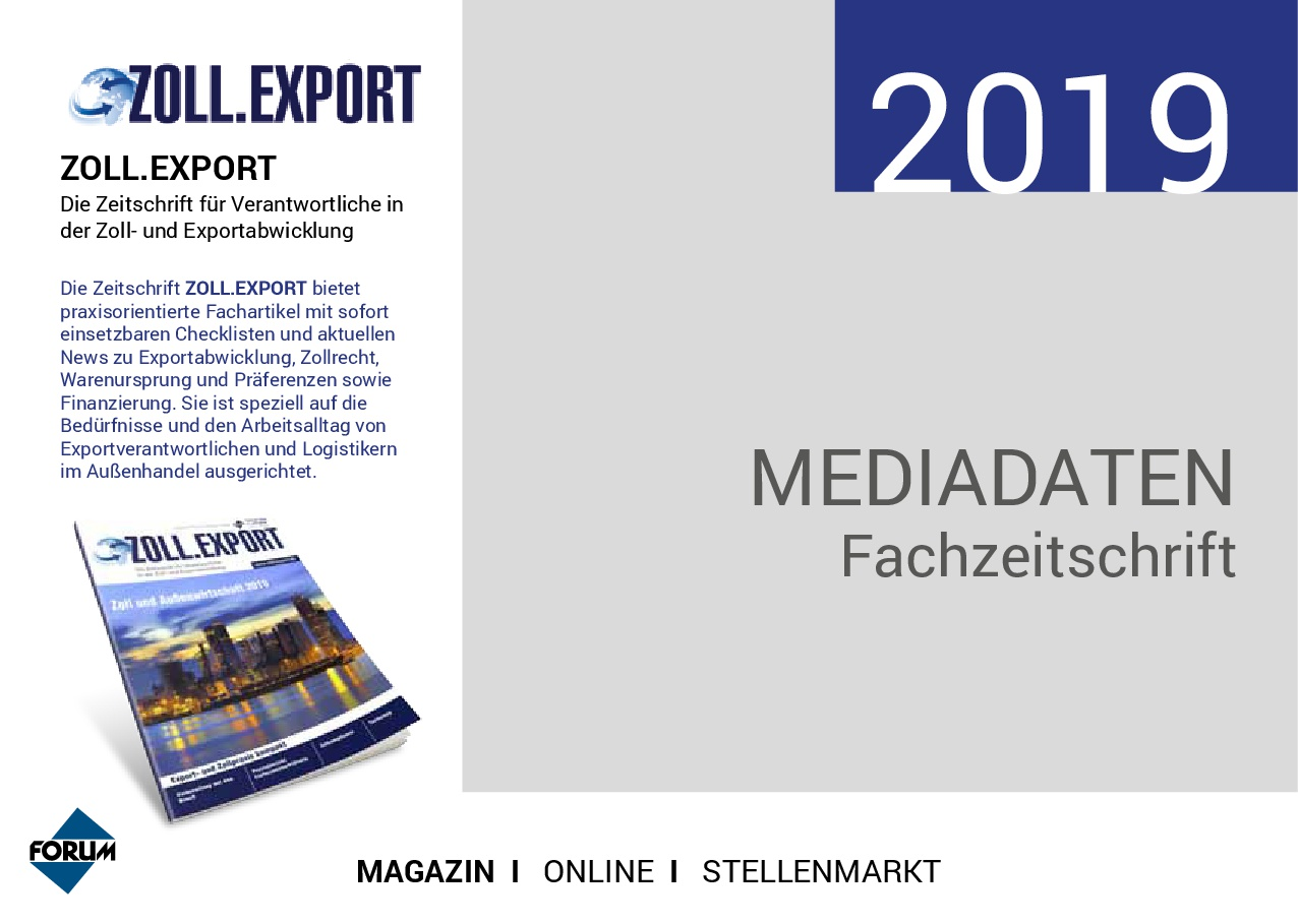 Mediadaten Zoll.Export 2019