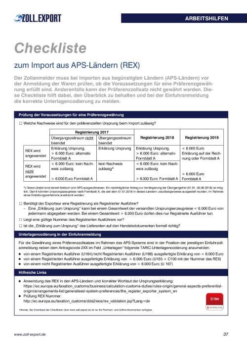 CL C194 Import aus APS-Ländern