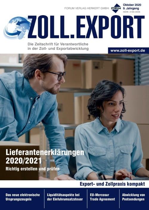 Ausgabe Oktober 2020<br>Lieferantenerklärungen 2020/2021