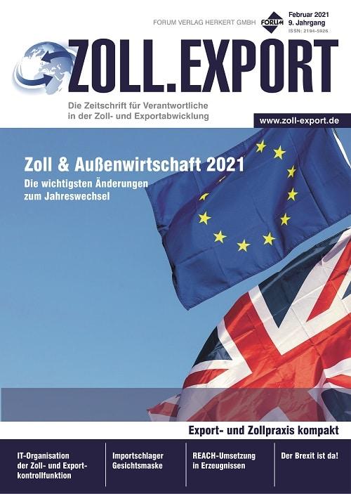 Ausgabe Februar 2021<br>Zoll & Außenwirtschaft 2021