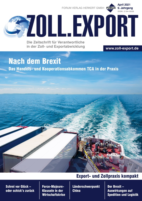 Ausgabe April 2021<br>Nach dem Brexit